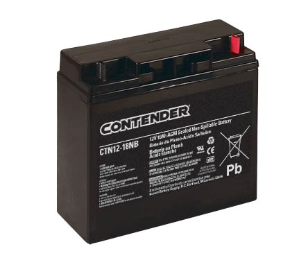 Contender 12V 18AH AGM Battery - Nut and Bolt Terminal