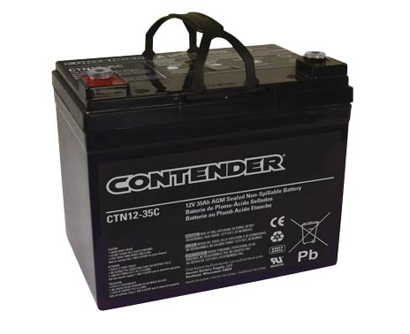 Contender 12V 35AH AGM Battery - Female M6 Terminal