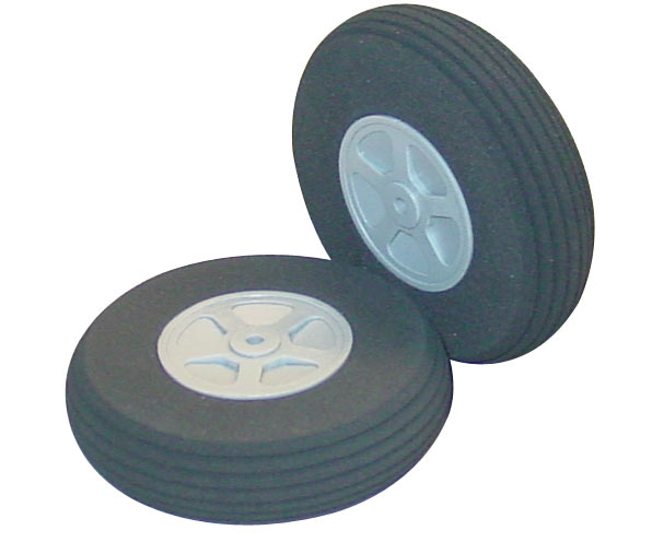 2 1/2 Inch Diameter Treaded Lite Flite Wheels 2pk