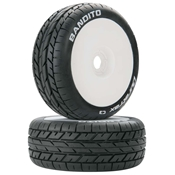 Bandito 1/8 Buggy Tire C3 Mounted White (2)