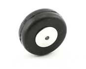 1 Inch Diameter Aluminum/Rubber Wheel-Smooth Tread