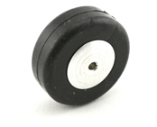 1 1/2 Inch Diameter Aluminum/Rubber Wheel-Smooth Tread