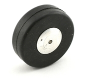 1 3/4 Inch Diameter Aluminum/Rubber Wheel-Smooth Tread