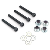 Dubro Socket Head Bolt Set with Lock Nuts, 6-32 x 1in