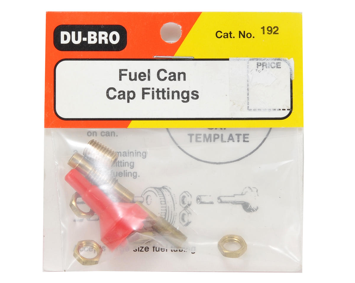 Dubro Fuel Can Cap Fittings - DUB192