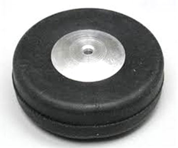 2 Inch Diameter Aluminum/Rubber Wheel-Smooth Tread