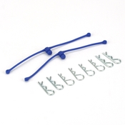 Dubro Body Klip Retainers Blue (2)