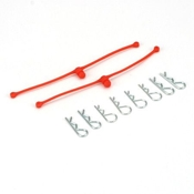 Body Klip Retainers, Orange