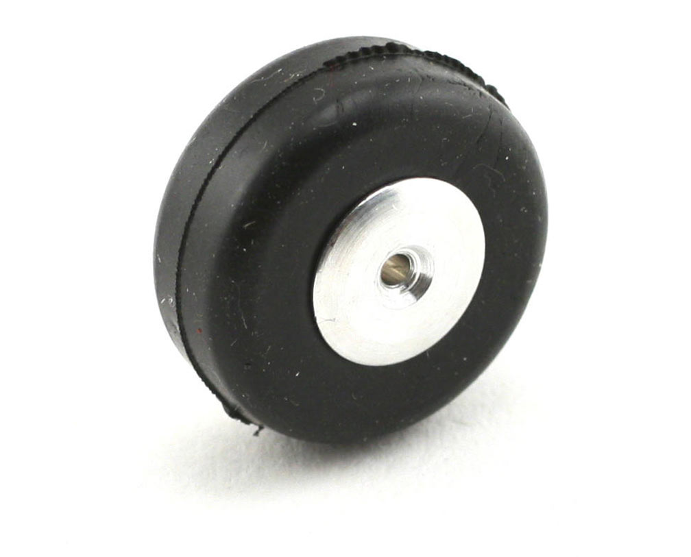 3/4 Inch Diameter Aluminum/Rubber Wheel-Smooth Tread