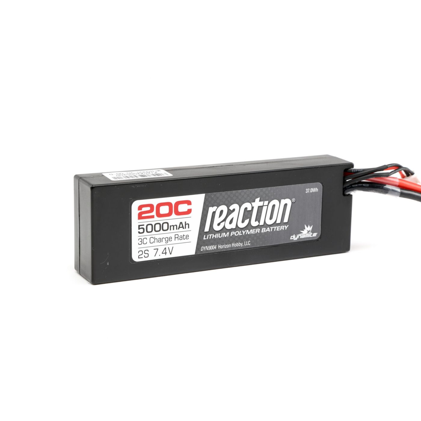 Reaction 7.4V 5000mAh 2S 20C LiPo Hard Case:Deans
