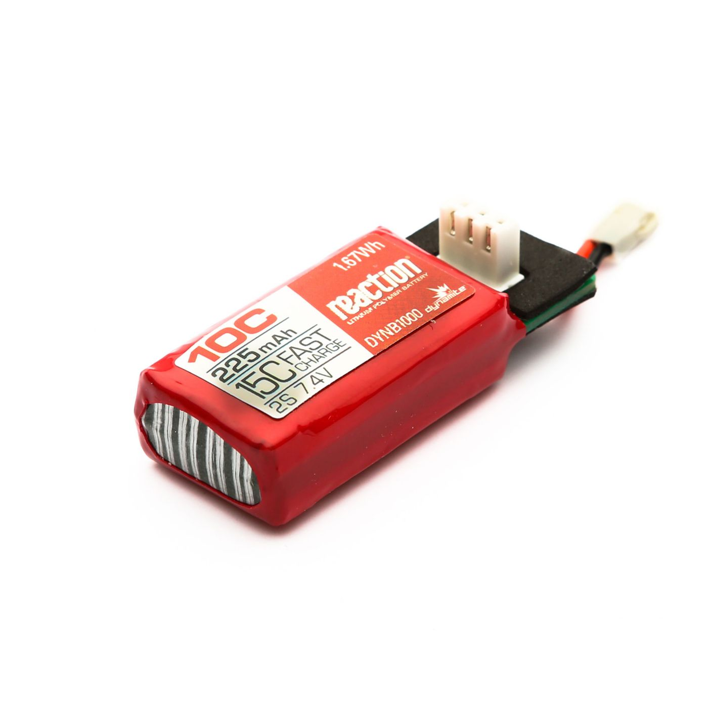 Reaction 7.4V 225mA 2S 10C HyperCharge LiPo