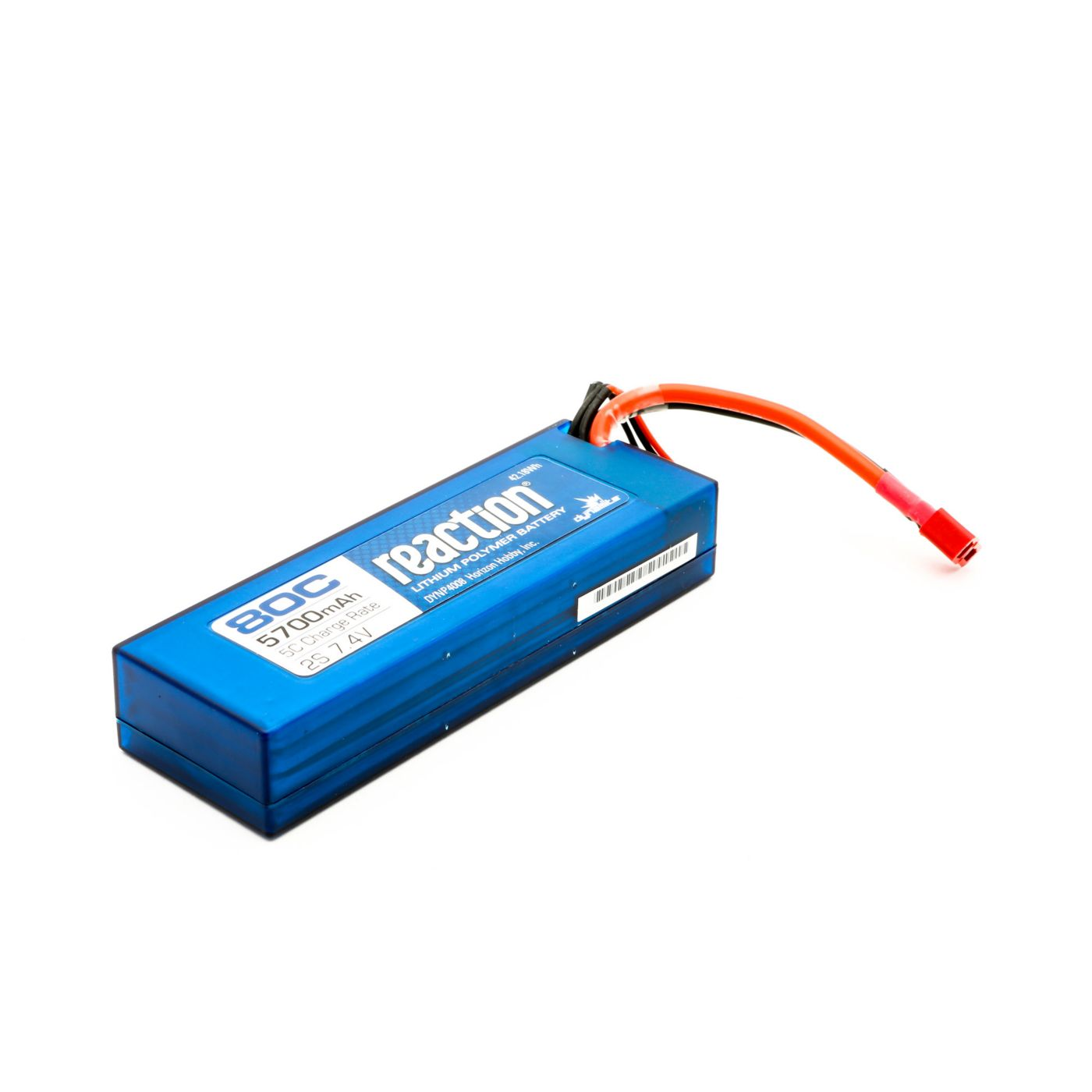 Dynamite Reaction 5700mAh 7.4V 2S 80C LiPoly Hard Case - Deans