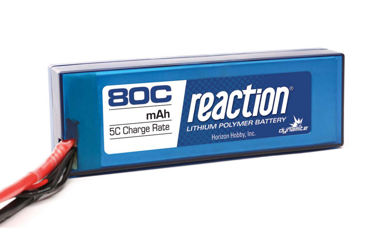 Dynamite Reaction 5700mAh 7.4V 2S 80C LiPoly Hard Case - EC3