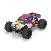 Ruckus 1:24 4wd Monster Truck: Blue/White RTR