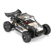 1:18 Roost 4WD Desert Buggy: Black/Orange RTR