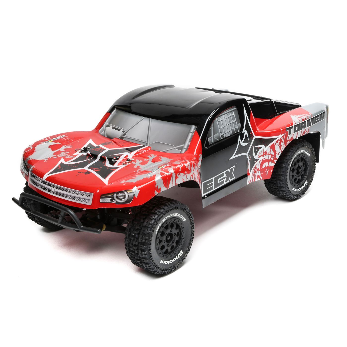 1/10 Torment 2WD SCT, Brushed, LiPo, RTR: Red/Silver