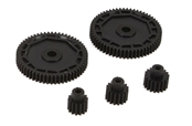 Pinion & Spur Gear Set: 1/18 4WD All