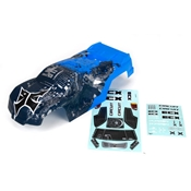 Body, Blue/Silver: 1:10 2wd Circuit