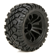 FR/R Wheel & Tire, Premount (2): 1:10 4wd Circuit