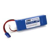 E-Flite 1500mAh 11.1V Triple Cell 3S LiPoly Pack, 13g wire