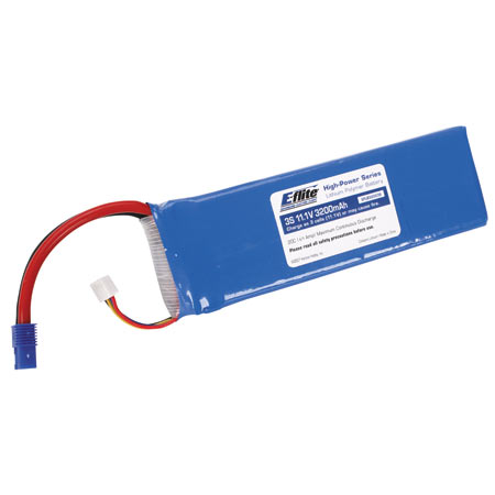 E-Flite 3200mAh 11.1V 20C Triple Cell 3S LiPoly Pack, 13g wire