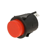 Round Red Momentary Pushbutton Switch