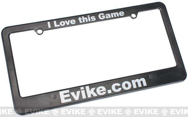 Evike.com I LOVE THIS GAME Tactical Airsoft License Plate Frame