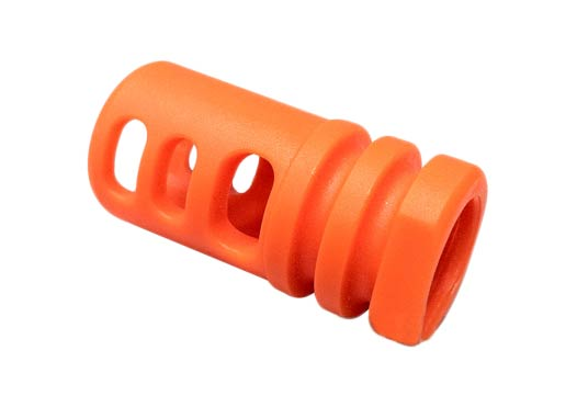 Matrix Shark Type Orange Flashhider for Airsoft AEG Rifles - 14mm Positive