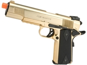 WE CQB Master Full Metal 1911 Military Airsoft Gas Blowback - 24k Gold Plated
