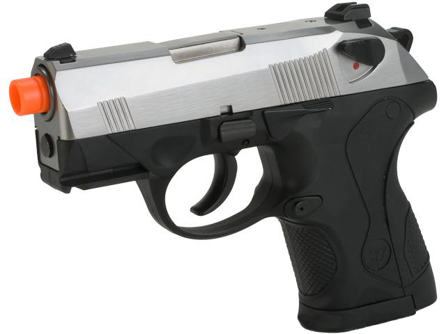 Bulldog Compact Airsoft Gas Blowback GBB Pistol by WE (2 Mag Packge) - Chrome