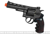 Wingun Co2 Full Metal 4 inch gas revolver (Black with wood stock)