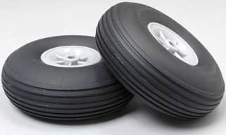 Rubber Treaded Wheel 3-1/4 (2)