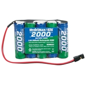Hobbico HydriMax 2000mAh 6.0V 5S NiMH AA Flat Receiver Pack