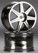 101156 7-Spoke Black Chrome Trophy Truggy Wheel