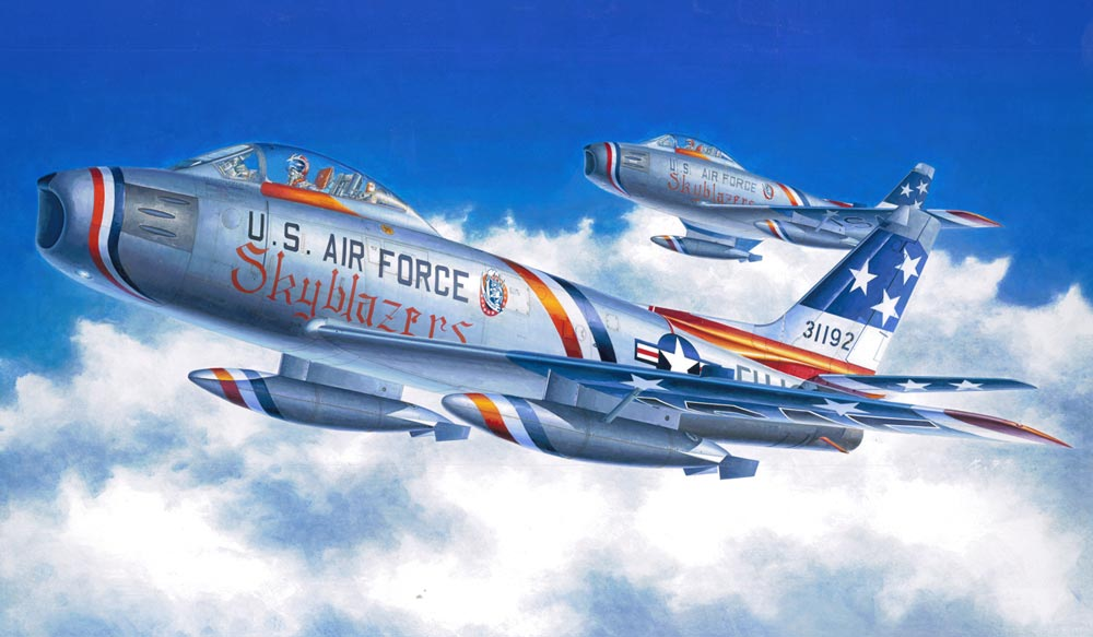 F-86F-35 Sabre `Skyblazers` (1/48 scale Plastic Modelling kit) Hasegawa