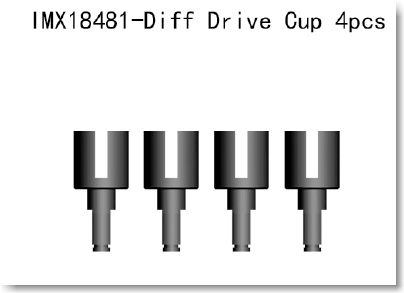 Diff Drive Cup 4pcs