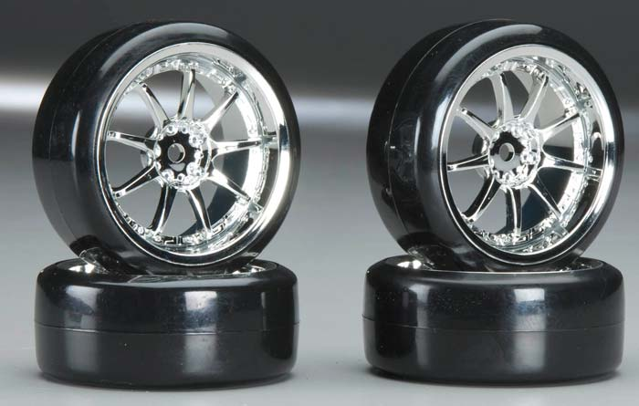 C23244 Type V Complete Wheel/Tire Set Drift Racing (4)