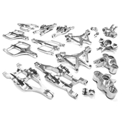 C25958SILVER Suspension Set 1/10 E-Maxx Monster Truck