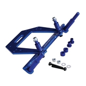 Front Shock Tower, Blue: Rustler, Slash