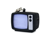 Retro TV LED Keychain with Sound