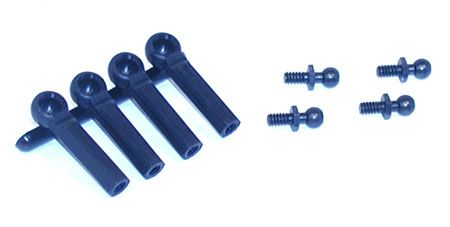 BALL STUDS W/ ENDS 4-40 X X3/16