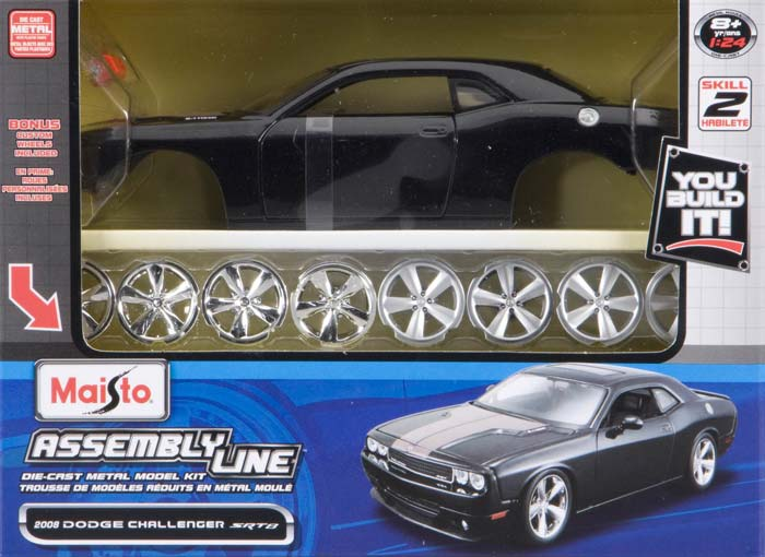Maisto 1/24 Assembly Line '08 Dodge Challenger Metal