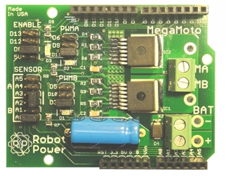 MegaMoto Motor Control Shield for Arduino