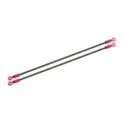 Microheli Carbon Tail Boom Support Set, Red: Blade 130 X