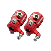 Microheli Double Bearing Weighted Tail Blade Grip Set, Red: MHE130X142X
