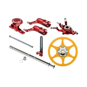 Microheli CNC Performance Package, Red: Blade 130 X