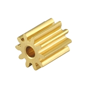 Microheli CNC Brass Pinion 10T 0.4M 1.48mm Bore: 130 X