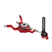 Microheli Aluminum Swashplate with Anti-Rotation Guide, Red: Blade Nano CP X
