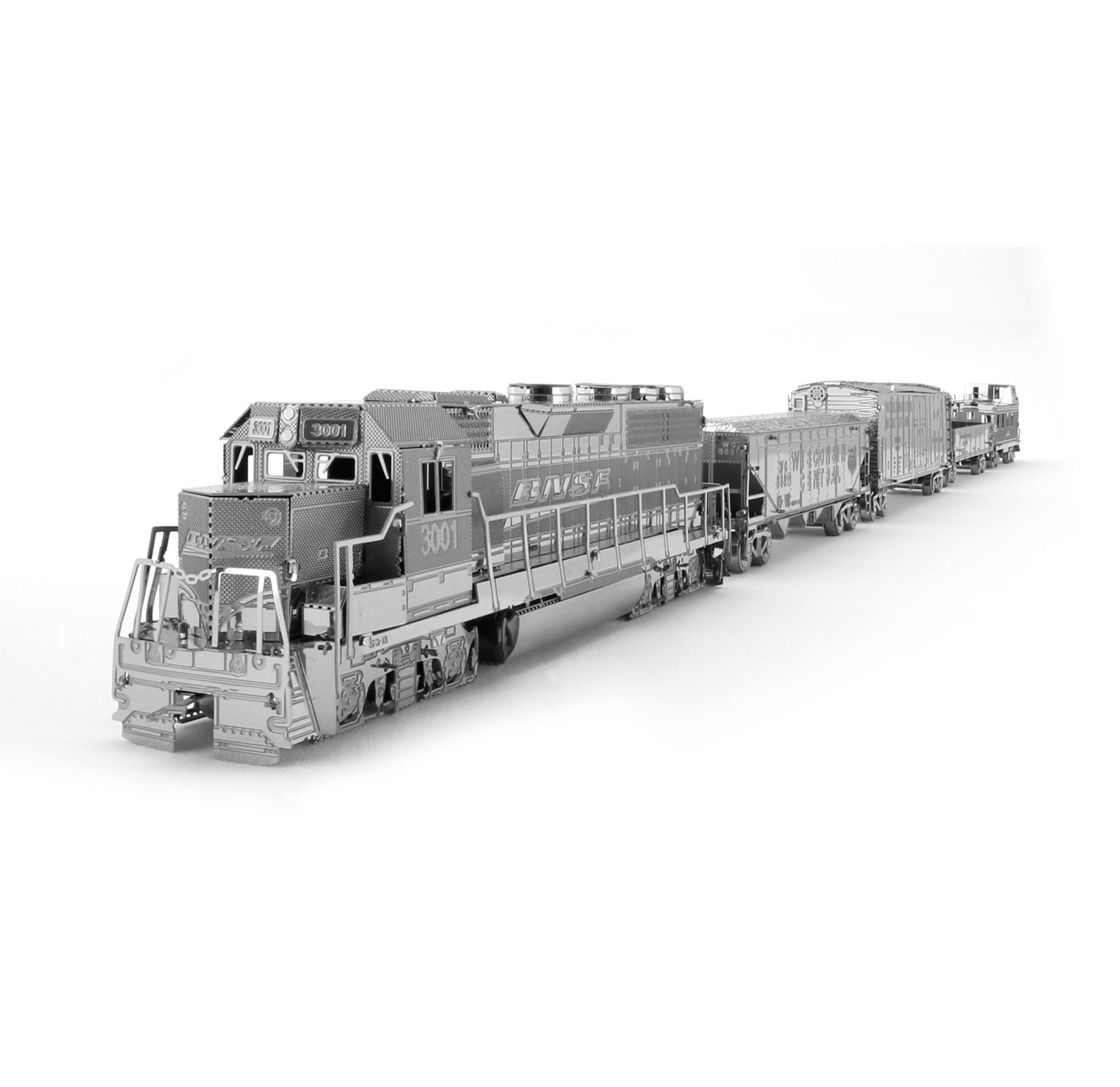 Fascinations Metal Earth Freight Train Box Gift Set 3D Metal Model Kit