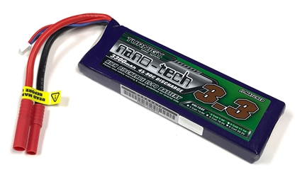 Turnigy Nano-Tech 3300mAh 2S 90C LiPo - 4mm Bullet Connectors